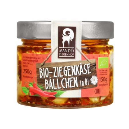 Bio Ziegenkäsebällchen in Öl - Chili 150g