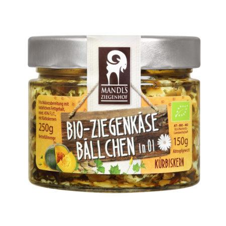Bio Ziegenkäsebällchen in Öl - Glas Kürbis 150g
