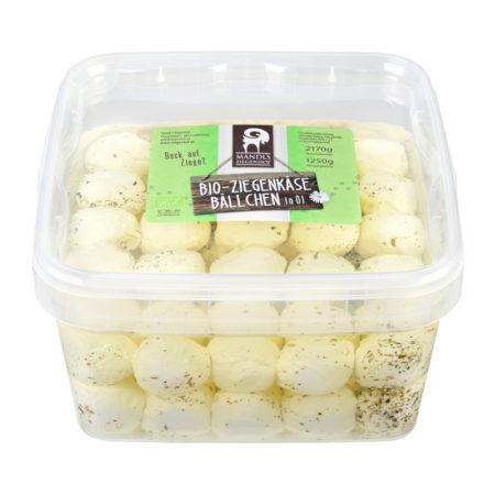 Bio Ziegenkäsebällchen in Öl Gastrobox Kräuter mit 50 Stk. Bällchen 1250g