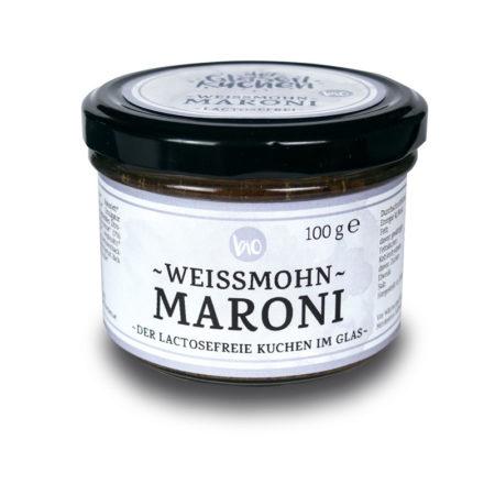 Bio Glaserlkuchen Weißmohn-Maroni - 100g