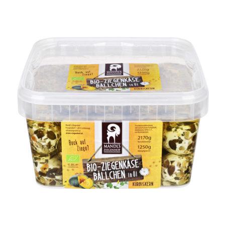 Bio Ziegenbällchen Gastrobox mit 50 Stk. 1250g